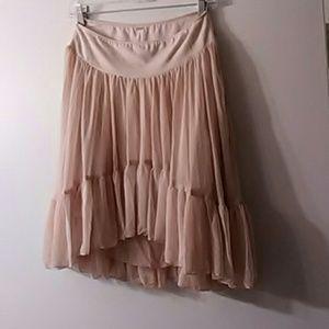 Free People pink Tutu Like Skirt with chiffon